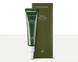 Nature Republic Snail Solution Eye Cream - Крем для век с муцином улитки, 30 мл