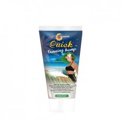 Tan Master Quick Tanning Hemp - Крем для темного и стойкого загара в солярии с маслом конопли, 120мл