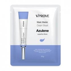 Vprove Mask Master Cream Sheet Azulene - Успокаивающая тканевая маска с азулином, 25 мл