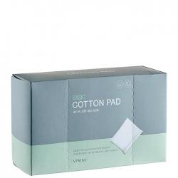 Vprove Basic Cotton Pad - Хлопковые диски для лица прямоугольной формы, 80 шт