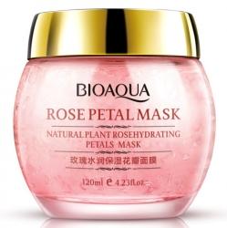 Bioaqua Rose Petal Mask - Маска ночная смягчающая для лица с лепестками роз, 120 г