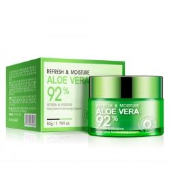 Bioaqua Aloe Vera 92% - Крем-гель освежающий и увлажняющий для лица и шеи с алоэ вера, 50 г