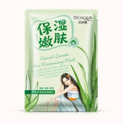 Bioaqua Natural Extract - Успокаивающая маска с экстрактом алоэ, 30 г