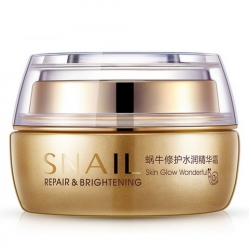 Bioaqua Snail Repair Brightening - Крем увлажняющий для лица с муцином улитки, 50 г