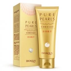 Bioaqua Pure Pearls - Пенка для умывания с жемчужной пудрой, 100 г