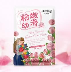 Bioaqua Natural Extract - Маска отбеливающая с козьим молоком и экстрактом из розы, 30 г