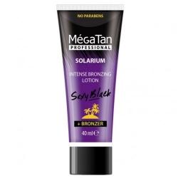 MegaTan Sexy black intense bronzing + Bronzer - Лосьон для загара интенсивный, 40 мл