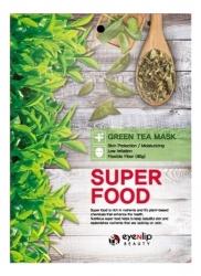 Eyenlip  Super Food Green Tea Mask - Маска на тканевой основе с экстрактом зеленого чая, 23 мл