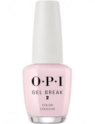 OPI Gel Color Gel Break Properly Pink - Ухаживающее покрытие с эффектом цвета (розовый), 15 мл