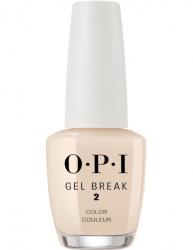 OPI Gel Color Gel Break Too Tan-talizing - Ухаживающее покрытие с эффектом цвета (интенсивный бежевый), 15 мл