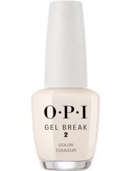 OPI Gel Color Gel Break Barely Beige - Ухаживающее покрытие с эффектом цвета (бежевый нюдовый), 15 мл