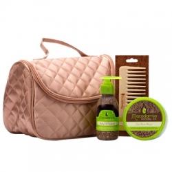 "Macadamia Natural Oil Deep Repair Masque+ Healing Oil Treatment+ Healing Oil Infused Comb - Набор для волос ""Атласная сумка"""