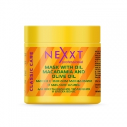 Nexxt Professional Mask With Macadamia & Olive Oil - Маска с маслом макадамии и маслом оливы, 500 мл