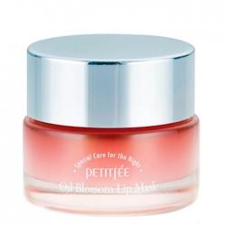 Petitfee Oil Blossom Lip Mask - Camellia Seed Oil - Маска для губ Увлажняющая с маслом камелии, 15г