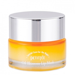 Petitfee Oil Blossom Lip Mask - Sea Buckthorn Oil - Маска для губ с витамином Е и маслом облепихи, 15 мл