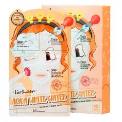 Elizavecca 3-Step Aqua White Water Illuminate - Трёхступенчатая увлажняющая тканевая маска 25 мл*2 мл*2мл