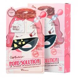 Elizavecca 3-Step Pore Solution Super Elastic - 3-шаговая тканевая маска для сужения пор лице 25 мл/2 мл/2 мл