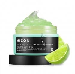 Mizon Enjoy Fresh-On Time Revital Lime Mask - Маска для лица с экстрактом лайма, 100 мл