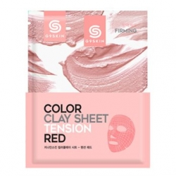 Berrisom G9SKIN Skin Color Clay Sheet Tension Red - Глиняная маска для лица листовая 20 г