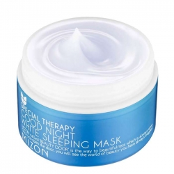 Mizon Good Night White Sleeping Mask - Маска ночная отбеливающая с лавандой, 80 г