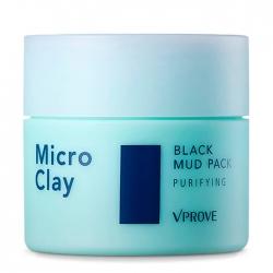 Vprove Micro Clay Black Mud Pack Purifying - Маска для лицадля сухого типа кожи кожи, 80 мл