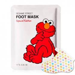 It's Skin Sesame Street Foot Mask Special Edition - Маска для ног Увлажняющая с растительными экстрактами, 14 мл