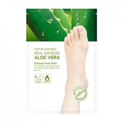 Nature Republic Real Squeeze Aloe Vera Moisture Foot Mask - Маска для ног с экстрактом алоэ вера, 16мл