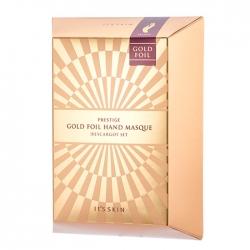It's Skin Prestige Gold Foil Hand Masque D'escargot Set - Набор интенсивно питательных масок для рук с фильтратом муцина улитки, 6 мл