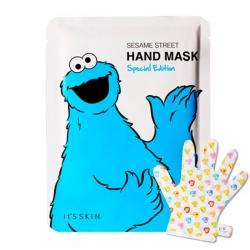 It's Skin Sesame Street Hand Mask Special Edition - Маска для рук Увлажняющая с растительными экстрактами, 14 мл
