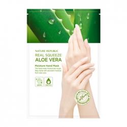 Nature Republic Real Squeeze Aloe Vera Moisture Hand Mask - Маска для рук с экстрактом алоэ вера, 16 мл