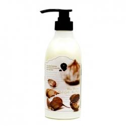 3W Clinic More Moisture Black Garlic Hair Pack - Маска для укрепления волос с экстрактом чёрного чеснока, 500 мл
