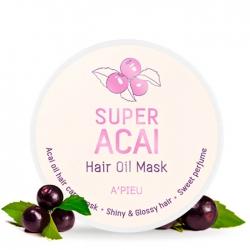 A'Pieu Super Acai Hair Oil Mask - Маска для волос Восстанавливающая с экстрактом ягод асаи 210 мл