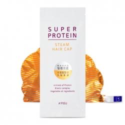 A'Pieu Super Protein Steam Hair Cap - Тепловая протеиновая маска для волос в форме шапочки, 30 мл