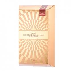 It's Skin Prestige Gold Foil Hair Masque D'escargot Set - Восстанавливающие маски для волос с фильтратом муцина улитки, 40 г