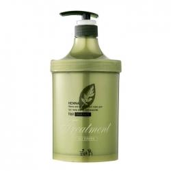 Flor de Man with Flowers Henna Hair Treatment - Маска для волос Ультраувлажняющая и питающая с керамидами и экстрактом хны, 1000 мл