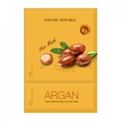 Nature Republic Argan Essential Deep Care Hair Mask - Маска для волос с маслом арганы, 15мл