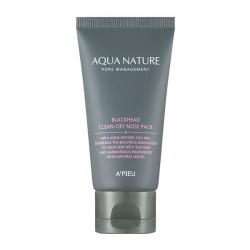 A'Pieu Aqua Nature Blackhead Clean-Off Nose Pack - Маска-плёнка для очищения носа от чёрных точек, 50 мл