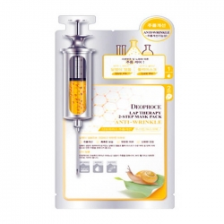 Deoproce Lap Therapy Snail Anti-Wrinkle Ampoule Mask Pack - Маска-сыворотка для лица улиточная антивозрастная, 25 мл