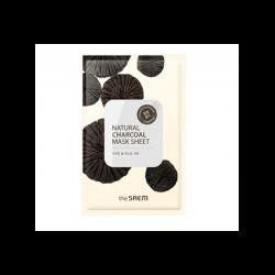 The Saem Natural Charcoal Mask Sheet - Маска тканевая с древесным углем, 21 мл