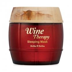 Holika Holika Wine Therapy Sleeping Mask Red Wine - Ночная винная маска-желе, красное вино, 120 мл
