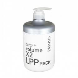 Pampas Deep Damage Hair Volume X2 LPP Pack - Маска для волос Интенсивно восстанавливающая, 1000 мл