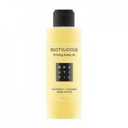 Beautific Bootylicious Firming Body Oil - Антицеллюлитное масло с эссенцией грейпфрута и зеленым кофе, 150 мл