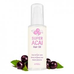 A'Pieu Super Acai Hair Oil - Масло для волос с экстрактом ягод ассаи 80 мл