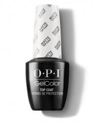 OPI GelColor Top Coat Matte - Верхнее покрытие для создания матового эффекта, 15 мл