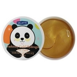 Milatte Fashiony Gold Hydrogel Eye Patch - Патчи для кожи вокруг глаз гидрогелевые с золотом, 90 г (60 шт)