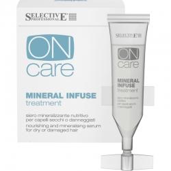 Selective On Care Nutrition Mineral Infuse Treatment - Питательная сыворотка с минералами для сухих и поврежденных волос 10*10 мл. Общий объем: 100 мл