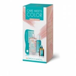 Moroccanoil Color meets Care Rose Gold - Набор Тонир маска Rose Gold 30мл+ сух шампунь д/св волос 65мл+ масло для св волос 15мл+ мини-расческа