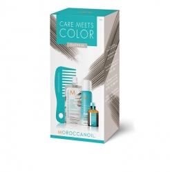 Moroccanoil Color meets Care Platinum - Набор Тонир маска Platinum 30мл+ сух шампунь д/св волос 65мл+ масло для св волос 15мл+ мини-расческа