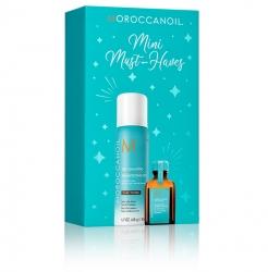 Moroccanoil Stocking Stuffer. Dark - Мини набор к Рождеству (сухой шамп.д/темных 65мл+масло 15мл)