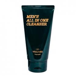 Village 11 Factory Men's All-in-One Cleanser - Мужская увлажняющая пенка-скраб для умывания и бритья, 150 мл